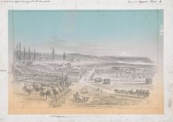 Bird's Eye View of Vancouver W.T. 1854
