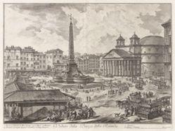 Veduta della Piazza della Rotunda (View of the Piazza della Rotonda [with the Pantheon in the background]), from Vedute di Roma (Views of Rome)