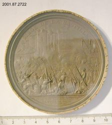 Uniface medal with scene of the siege of the Bastille, 1789