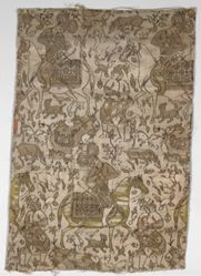 Textile Fragment with a Courtier and Prisoner