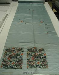 Length of Satin, embroidered