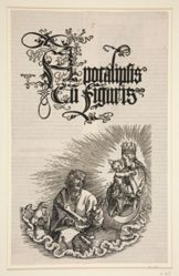 The Virgin Appearing to Saint John, title page for the series The Apocalypse