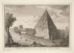 Piramide Sepolcrale di Cajo Cestio, presso Porta S. Paolo (Pyramid of Gaius Cestius)