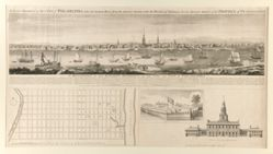 An East Prospect of the City of Philadelphia; taken by George Heap, from Jersey Shore, under the direction of Nicholas Scull Surveyor General of the Province of Pennsylvania.