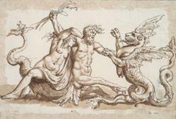 Nereid and Triton Fighting a Griffon
