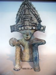 Seated Figure with a Boxlike Headdress