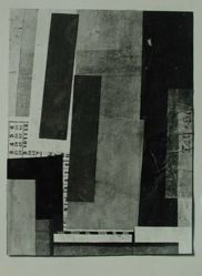 Photograph of Kurt Schwitters collage [unidentified location] -- from Katherine S. Dreier's private collection