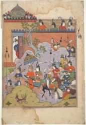 Alexander the Great Marches toward Andalusia, from a Book of Kings (Shahnama) manuscript
