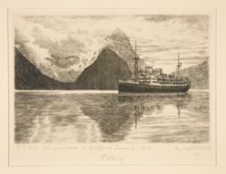 T. S. M. V. Wanganella in Milford Sound, New Zealand