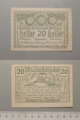 20 Heller from Abekberg, redeemable Dec. 12, 1920, Notgeld
