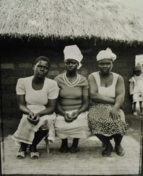 Kulaso Whisky's Three Wives, Maria Vinti, Sarah January, and Shika Francisco, Mozambiquan refugee camp, Nyamithuthu, Malawi