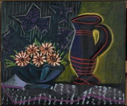 Vase of Flowers and Pitcher