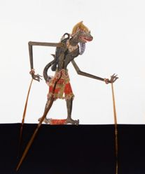 Shadow Puppet (Wayang Kulit) of Monyet Cantrik, from the consecrated set Kyai Nugroho