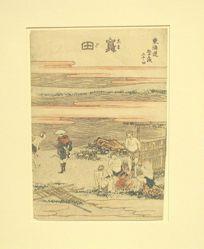 Shimada, Twenty-fourth in the series Fifty-three Stations of the Tōkaidō
