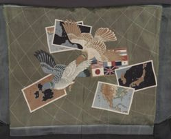 Haori with Doves and Maps