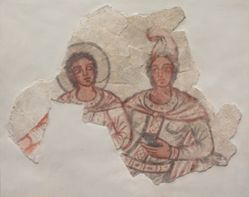 Painting of Mithras and Sol from the Middle Mithraeum