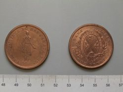 Habitant Penny token from Quebec Bank