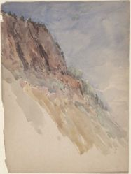 Untitled [Cliffside] (recto); Untitled [Another sketch] (verso)