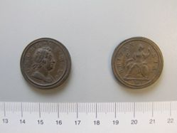 Halfpenny of King George I from London