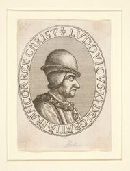 Louis XI of France, part of Princes with the Collars of their Orders