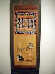 Womb Mandala with Sanskrit Letters