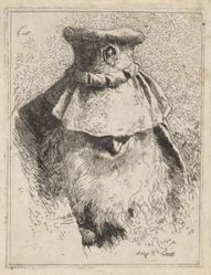 Old Man with a Large Hat, from the Raccolta di Teste (Collection of Heads)
