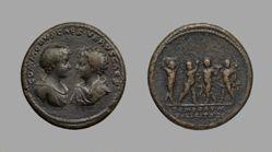 Medallion of Commodus and Annius Verus