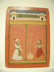 Raga Salang : leaf from a Ragamala