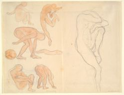 Figure Studies (recto); Tree and Anatomy Studies (verso)