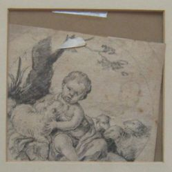 Infant with sheep (formerly Figure Study)