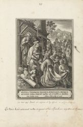 The Adoration of the Magi, #10 of Beatae intactae... Virginis Mariae Vita (The Life of the Virgin), series of title plate and 17 plates
