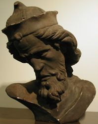 Buste Christ du Puits de Moise