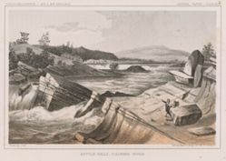 Kettle Falls, Columbia River, pl. 47 of the U.S.P.R.R. Expedition and Surveys, 47-49 parallels