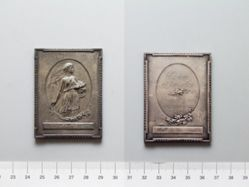 Lead Plaquette from Belgium of World War I- L'Assistance Discrète