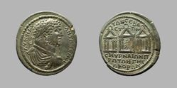 Coin of Caracalla, Roman Emperor from Smyrna