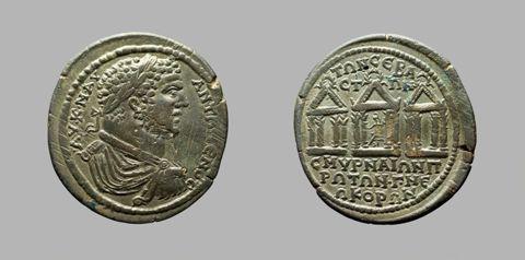 Coin of Caracalla, Roman Emperor from Smyrna