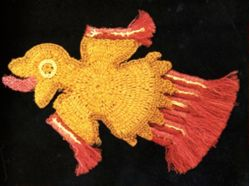 Motif from a Mantle or Tunic of a Flying Bird