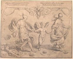Cupid Dancing with Two Nymphs