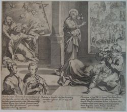Plate 8, from the series, Life and Miracles of Saint Catherine of Siena