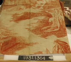 "Length of printed cotton, ""William Penn's Treaty with the Indians"""