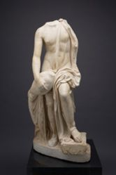 Marble statue of Leda and the Swan, copy of a Greek original by Timotheos, ca. 370 B.C.