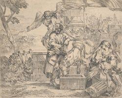 Saint Joseph Listening to the Angel's Counsel