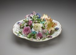 Bowl with Applied Flowers