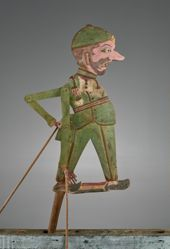 Puppet (Wayang Klitik) of a Dutch Soldier or Holländer