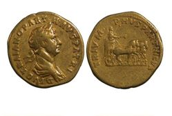 Aureus of Trajan, Emperor of Rome, from Rome