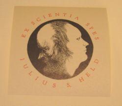 Bookplate for Julius S. Held