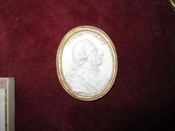 Frederick the Great ivory medallion portrait