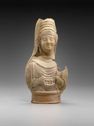 Terracotta figurine of female bust