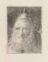 Bearded Old Man with a Hat, from the Raccolta di Teste (Collection of Heads)