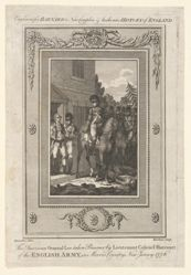 The American General Lee taken Prisoner by Lieutenant Colonel Harcourt of the English Army, in Morris County, New Jersey, 1776